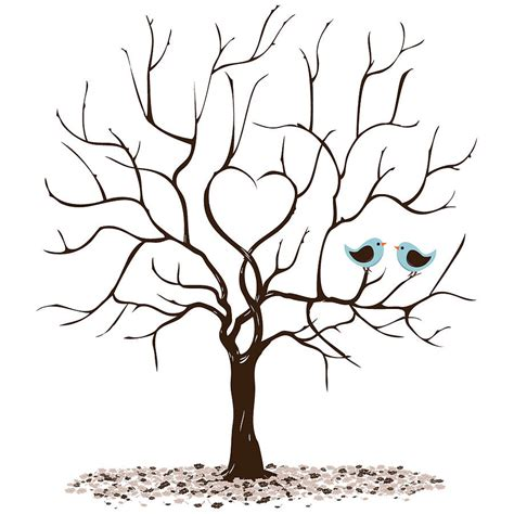 friendship tree template personalised class leavers fingerprint tree print by