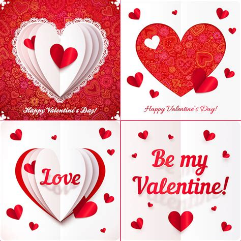 valentines day card template for 60 happy valentines day cards psd designs free