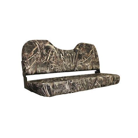 camo bench seat wise 48 quot folding camo bench seat 671369 pontoon seats
