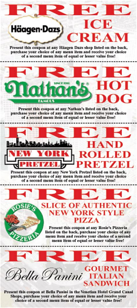 Nathan S Hot Dogs Ice Cream And More Buy 1 Get 1 Free Buffet Las Vegas Coupon
