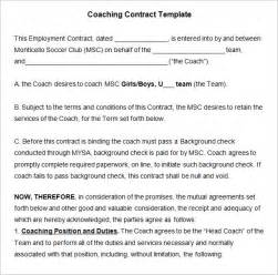football contract template coaching contract template 4 free word pdf documents