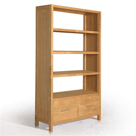Rak Buku Dinding Kecil lemari buku jati minimalis indofurniture