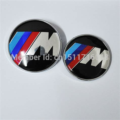 m m power car badge emblem logo sticker front rear