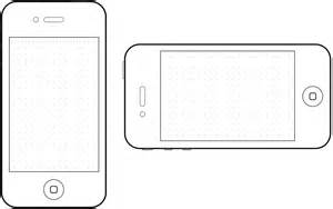 Blank Iphone Template by Best Photos Of Iphone 4 Template Printable Iphone 4