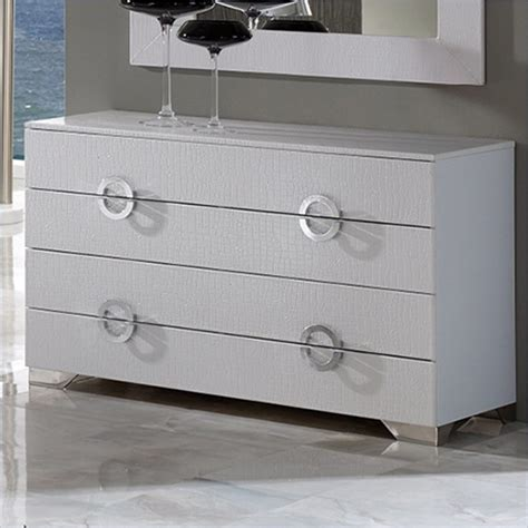 Dupen Coco Dresser In White Contemporary Other Metro Modern Bedroom Dressers And Chests
