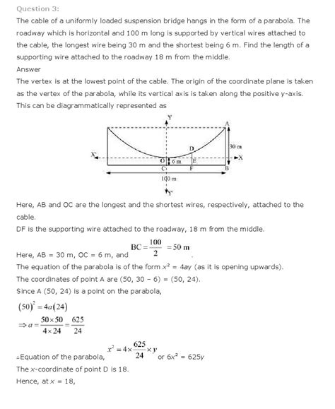 conic sections class 11 conic sections class 11 mathematics ncert solutions