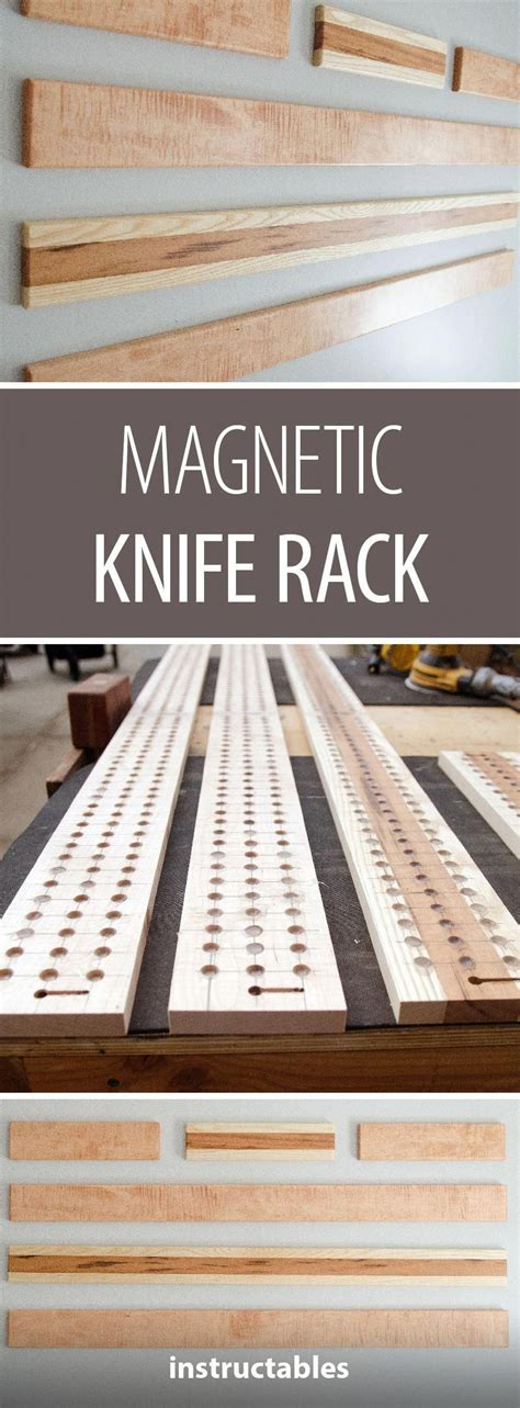 magnetic knife rack easy woodworking projects