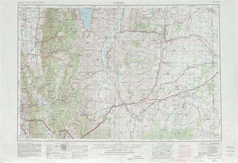 physical map of wyoming ogden topographic maps wy ut usgs topo 41110a1 at