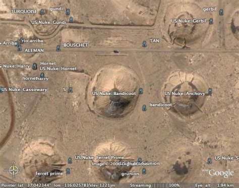Questionnaire Site - nuclear test sites