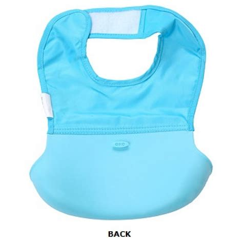 Oxo Tot Roll Up Bib Aqua oxo tot roll up bib aqua with pattern babyonline