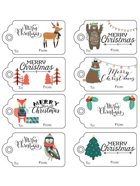 more than 25 free printable christmas gift tags 1788