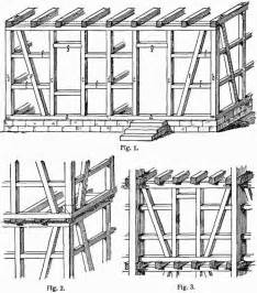 Post and beam system in german muti story construction from the 1904