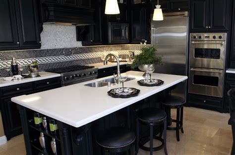 Kitchen Island With Quartz Top Residential Quartz Kitchen Island Tops Residential
