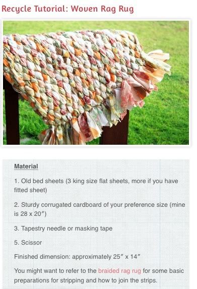 woven rag rug tutorial recycle tutorial woven rag rug musely
