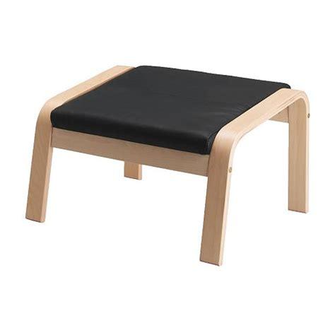 White Leather Ottoman Ikea Po 196 Ng Ottoman Cushion Glose Black Ikea