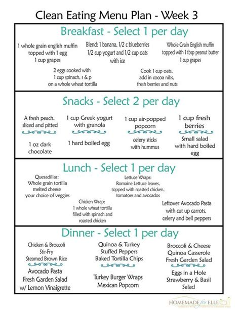 menu for dinner for 20 clean meal plan clean meals and clean