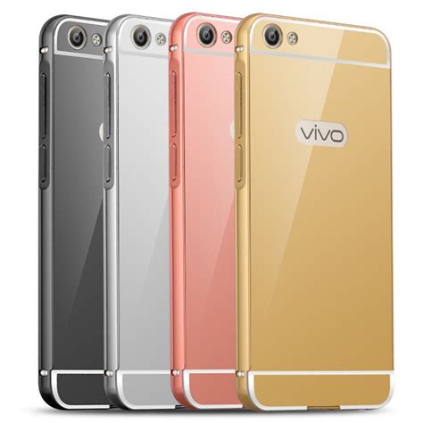 Vivo V5 Luxury Mirror Clear View Flip Cover Flipco Murah luxury aluminium metal bumper acrylic mirror back cover for vivo v5 ebay