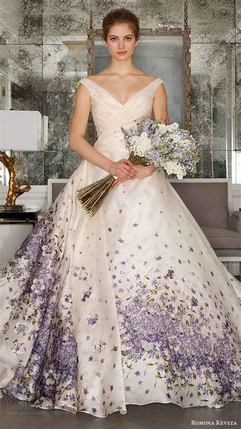 wedding dress with color romona keveza 2017 wedding dresses ode to