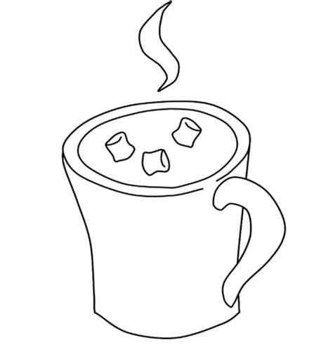 hot chocolate mug template printable sketch coloring page
