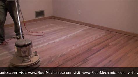 How To Hardwood Floors With Buffer by Hardwood Floor Refinishing Buffing Between Coats Of