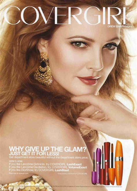 Drew Barrymore Is The New Covergirl by Publicitesdrewbarrymore Publicites Drew Barrymore