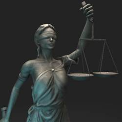 Blind Goddess Lady Justice Themis 3d Max