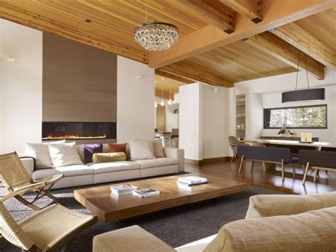 wooden walls ceiling design and solid wood furniture