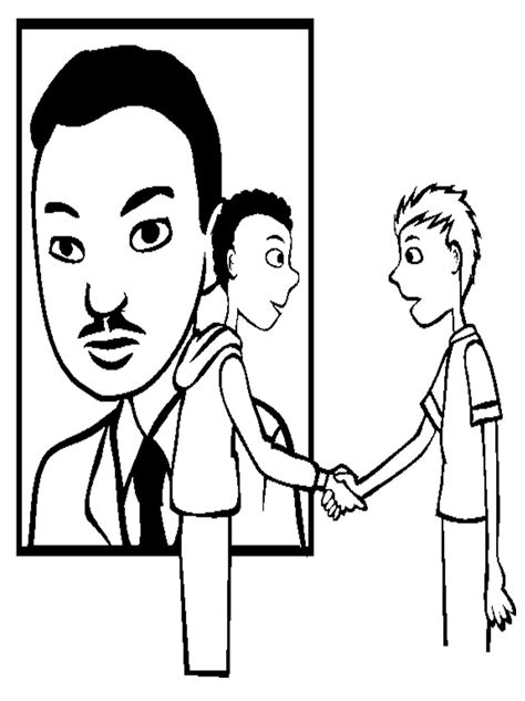 Free Coloring Pages Of Nobel Peace Prize Martin Luther King Color Page