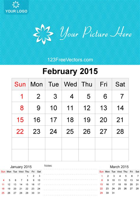 february 2015 calendar template vector free download