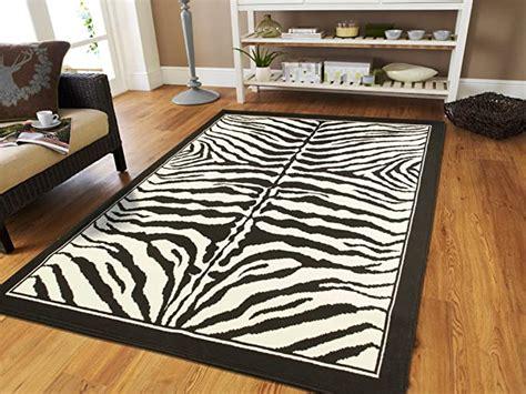 amazoncom large area rugs  living room  zebra