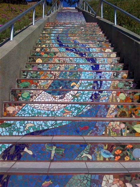 mosaic decorations for the home gorgeous mosaic staircase home design garden