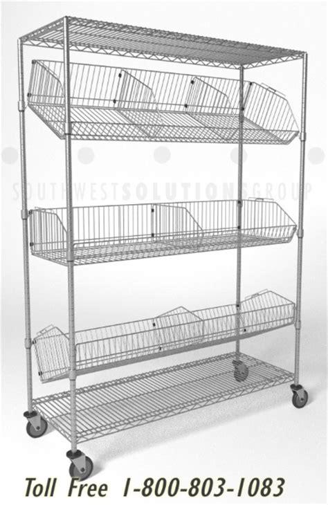 wire basket shelving system mobile wire basket shelving cart storage system