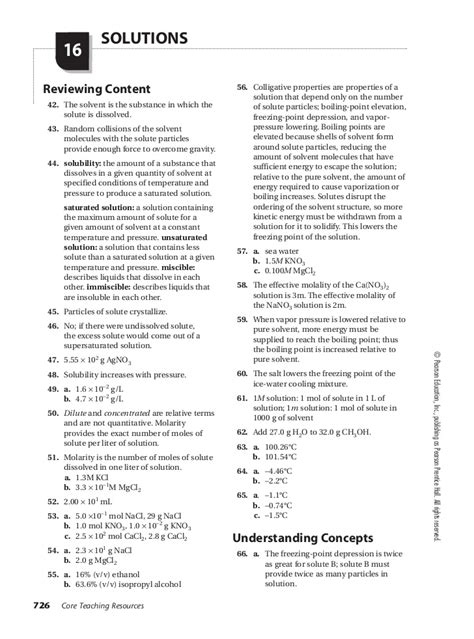 prentice hall chemistry chapter 11 section assessment answers chemistry chapter 16 assessment small