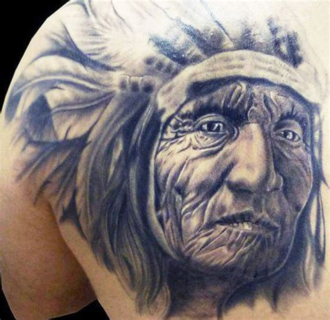 indian chief tattoo 26 indian chief tattoos and designs ideas