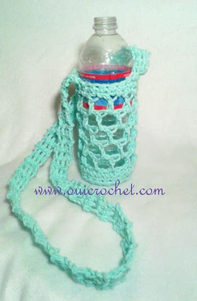crochet pattern bottle holder oui crochet simple large or small water bottle carrier