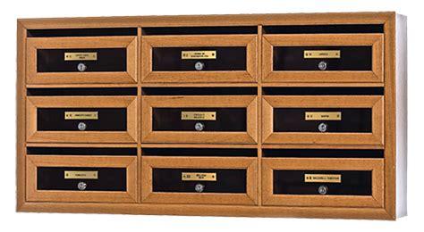 cassette postali in legno modello terra in legno plus eurocasellari