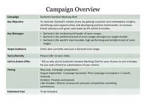 marketing brief template garland marketing caign brief