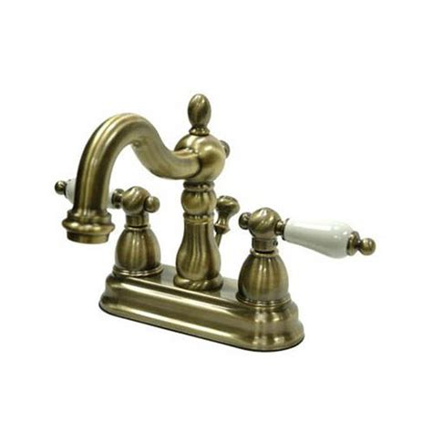 elements of design bathroom sink faucets shop elements of design heritage vintage brass 2 handle 4 in centerset bathroom faucet drain