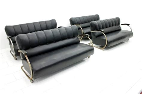 sofa tube rare set of four steel tube sofas from the early 1950s in
