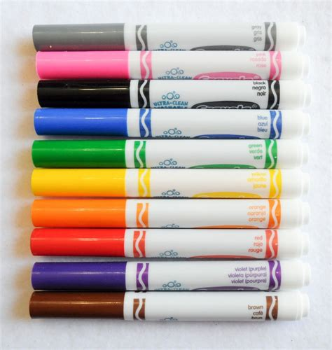 markers and colored pencils crayola ultra clean washable markers color max what s