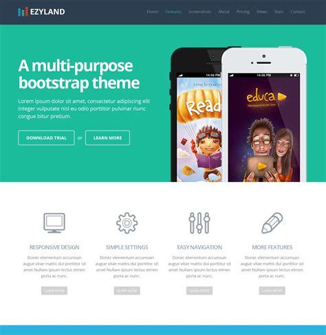 design page layout using bootstrap 19 fresh one page and landing page bootstrap theme collection
