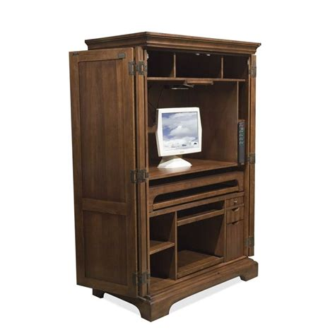 Riverside Furniture Computer Armoire Riverside Cantata Computer Armoire In Burnished Cherry 4985