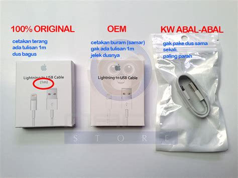 Kabel Data Ori Iphone 5s harga lightning cable iphone 5 original efcaviation