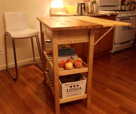 kitchen cart with drop leaf extension ikea hackers kitchen cart with drop leaf extension ikea hackers