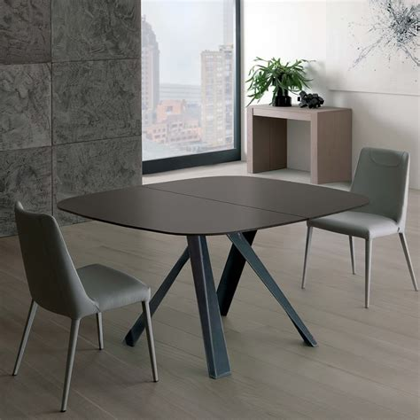 tavolo allungabile in cristallo bombo tavolo moderno in metallo piano in cristallo