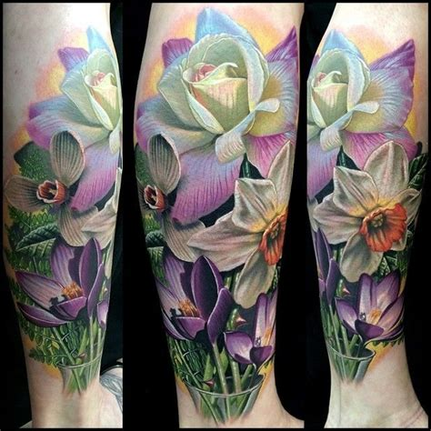 daffodil and rose tattoo 1000 ideas about daffodil on tulip