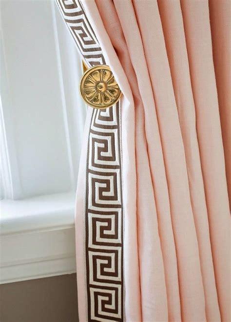 greek key curtain panels greek key motif on curtain panels all in the details