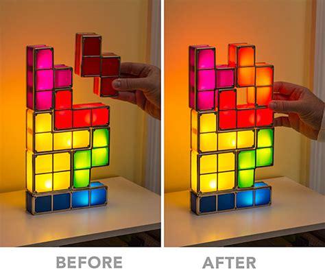 video game home decor tetris stackable led desk l thinkgeek