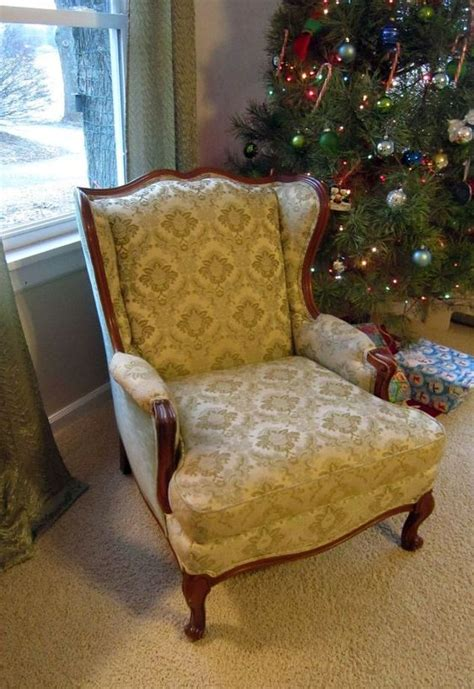 no sew reupholster couch no sew wingback chair re upholster hometalk