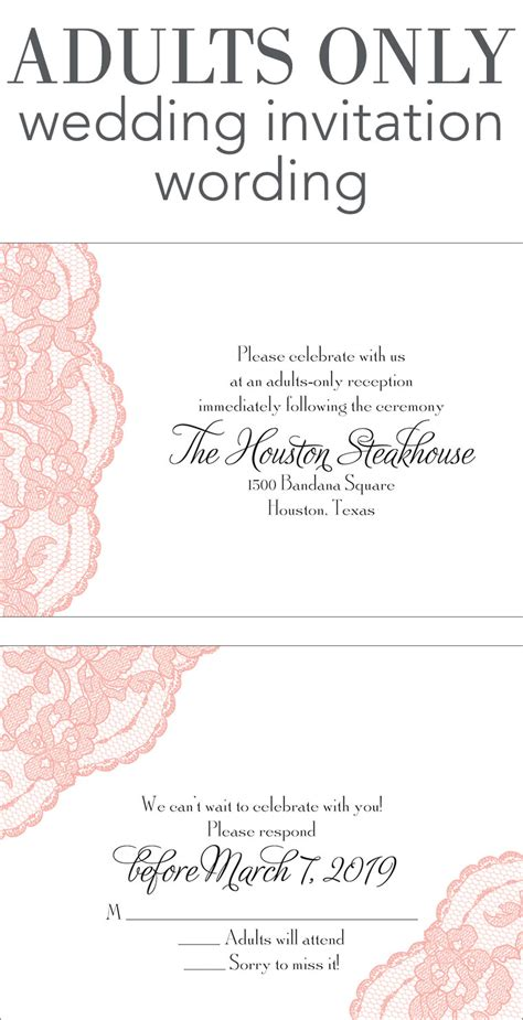 wedding invitations wording adults only wedding invitation wording invitations by